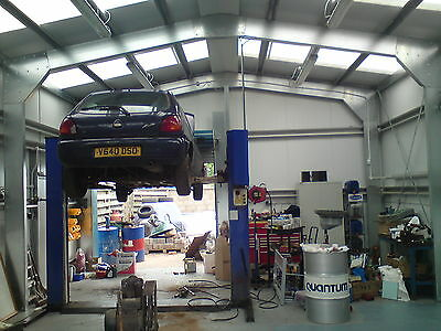 Stock Car Workshop Garage - Steel Building - Steel Framed Buildings UK - UK's #1
