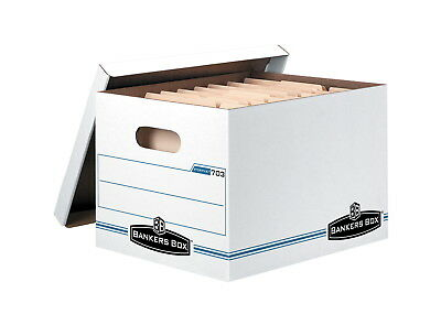 Bankers Box Letter/Legal Size Medium Duty File Storage Box with Lid, 12 X 10 X