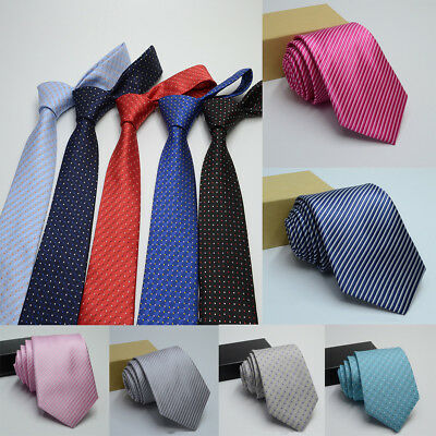 Mens Woven Classic Jacquard Tie Necktie Business Wedding Party Ties 17 style