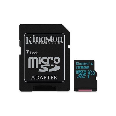Kingston (128GB) MicroSD Card UHS-1 Speed Class 3 (U3) with Adapter