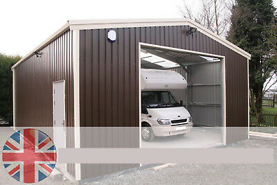 Caravan Mobile Home Campervan Garage- Steel Building - Steel Framed Buildings UK