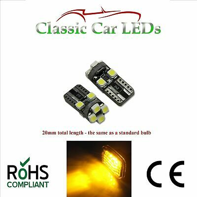 CHROME SIDE REPEATER INDICATOR BULBS FOR Ford Escort 501 W5W T10