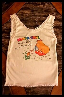 1970s Girls Pajama Tank Top T shirt Cartoon Graphics Sleeveless VINTAGE Sz 10