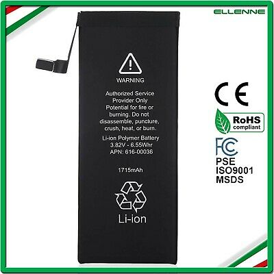 BATTERIA PER APPLE IPHONE 6S 1715 mAh ZERO CICLI PARI ALL'ORIGINALE