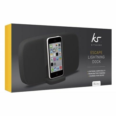 KitSound Escape Lightning Docking Station Speaker For iPhone X/8/7/6/6S/5S/5C/5G