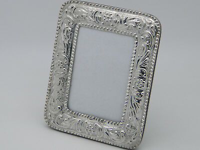 "Cased Solid Silver Mounted 950 Wooden Peruvian Repousse 3¼"" x 2¼"" Photo Frame"