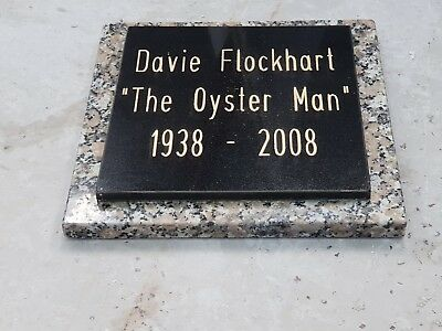 Memorial Plaque Grave Stone Headstone Black Granite  30cm x30cm