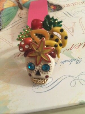 Betsey Johnson Sugar Skull Day Of The Dead ring  size 6 RIO collection Rare