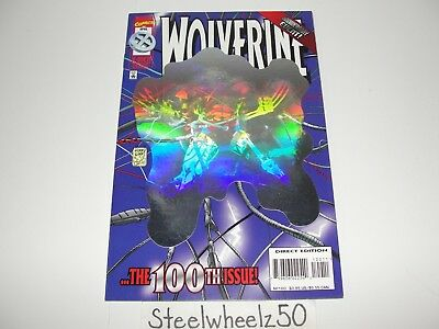 Wolverine #100 Hologram Cover Comic 1996 Marvel Adam Kubert Larry Hama Variant