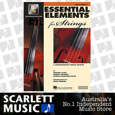 Essential Elements For Strings Book 1 ( One / First ) - Violin w/ EE Interactive
