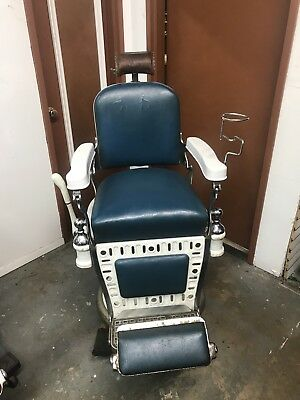 Antique barber chair Emil J Paidar Very Rare Model!