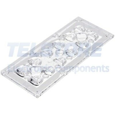1pcs  Lentille LED rectangulaire transparent H 7,92mm
