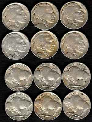 1929 - 1938 Buffalo Nickel 6 Pc. Lot