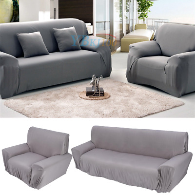 1/2/3 Seater Stretch Couch Sofa Seat Lounge Loveseat Protector Cover Slipcover