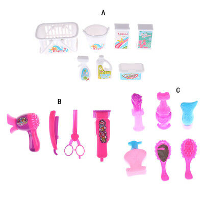 Girls Gifts Hair Dryer Scissors For Barbie Barber Tools Toy Salons Hair Care ACC
