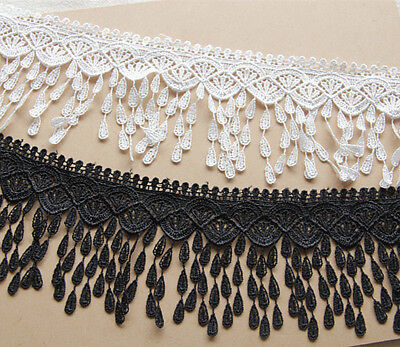 1 Yard,Embroidered Sewing Tassel Lace Trim Crochet Ribbon  Applique Ribbon  A62
