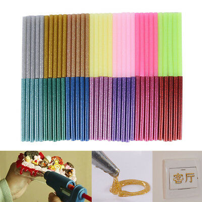 5x Glitter HotMelt Glue Sticks For Electric HeatingTool DIY Art Craft 100x7mm BD