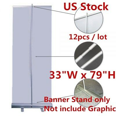 "USA 12pcs 33""W x 79""H High Quality Standard Retractable / Roll Up Banner Stand"