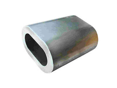 50 X M6 ALUMINIUM SWAGE FERRULE for 6mm STAINLESS WIRE CABLE ROPE CRIMP CLAMP