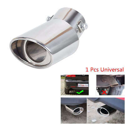 Stainless Steel Car Auto Vehicle Rear Exhaust Muffler Tail Pipe Tip Trim Silver