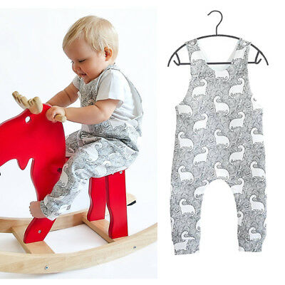 AU Stock Newborn Baby Girl Boy Dinosaur Romper Jumpsuit Bodysuit Clothes Outfits