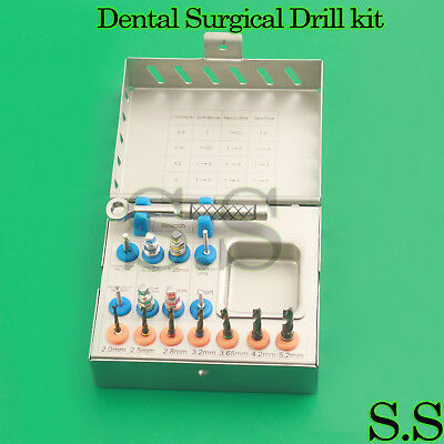 Dental Implant Tissue Punch ,Trephine Drills 15 Pcs Kit Surgical Surgery