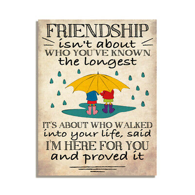 Friendship Quote Cute Inspirational Gift Fridge Magnet 4x3inch