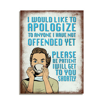 I Would Like To Apologize Retro Funny Gift Fridge Magnet 4x3 inch