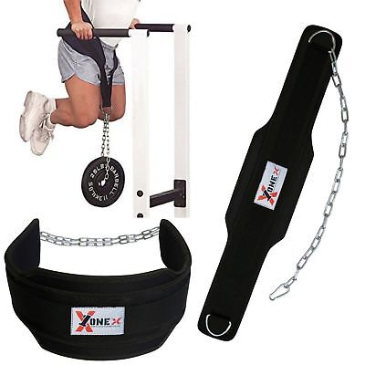 Pro Dipping Belt Body Building Weight Dip Lifting Chain Exercise Gym Training