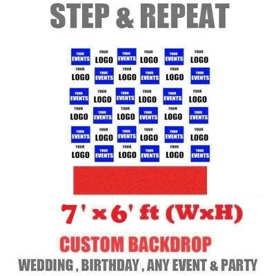 7' X 6' FT Photoshoot all Party Backdrop Customised STEP & REPEAT Telescopic