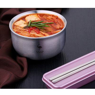Double Wall Insulated Stainless Steel Rice Bowl Noodle Bowl Kids 13.5cm