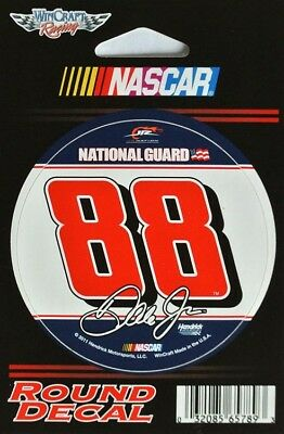 NASCAR 2011 Round Sticker Aufkleber #88 - NATIONAL GUARD - Dale Earnhardt jr
