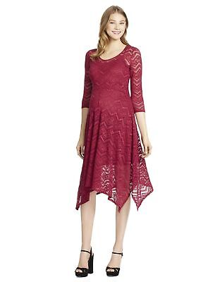 NWT Jessica Simpson A-Line Maternity Dress Deep Red S M L