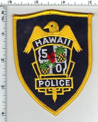 Hawaii 50 Police  Yellow Border Shoulder Patch - new from the 1980's