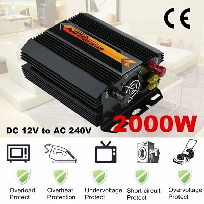 Voltage Converter DC 12V to AC 240V 2000W Power Inverter (Household) Neuf 20#d