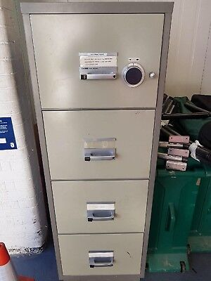 Chubb 4 Drawer Combination Filing Cabinet Fire Safe Secure
