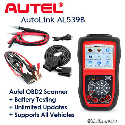 Autel AutoLink AL539B OBD2 Reader & Electrical Battery Test Tool Fault Code