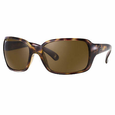 RayBan RB4068 Polarized Sunglasses Tortoise/ Brown Classic 60mm