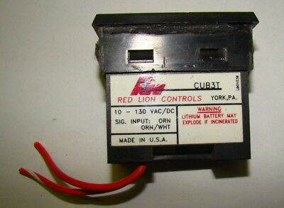 Red Lion Controls CUB3T Digital Counter, 10-130V, Used