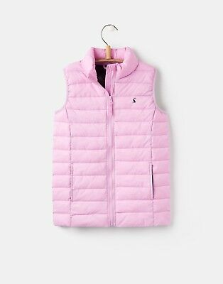 NEW Joules Girls Croft Gilet Neon Mauve Sizes 4 - 12 Years
