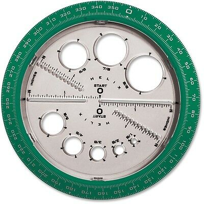 Helix Angle/Circle Maker Protractor/Compass 360 Degrees 36002