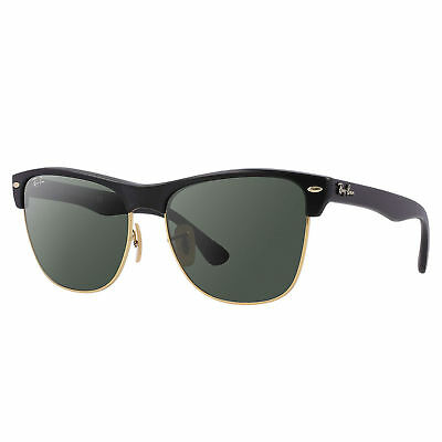 Ray-Ban RB4175 Clubmaster Oversized Sunglasses Black/ Green Classic 57mm