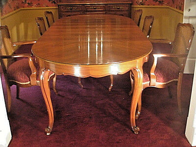 Kindel Dining Table,  French Provincial Milano, 31-17,  3 leaves, custom pads