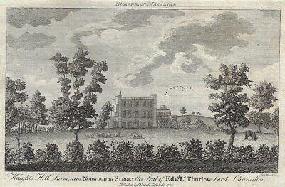 "Prattent's  ""KNIGHTS HILL FARM NEAR NORWOOD IN SURREY"" - Copper Engraving - 1786"