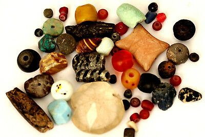 Loose Mix Ancient Collectable Beads Antique Beads Rare Beads Roman Glass Beads