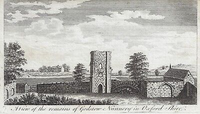 A VIEW OF THE REMAINS OF GODSTOW NUNNERY, OXFORD SHIRE - Copper Engraving -c1780