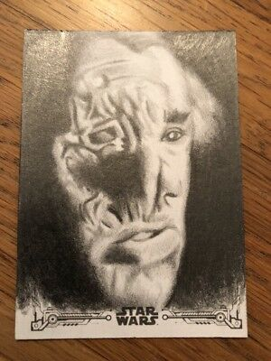 2018 Star Wars A New Hope Black & White Sketch Card