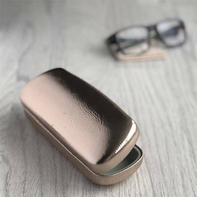 Rose Gold Vinyl Hard Glasses Case with matching cloth by Gisela Graham.
