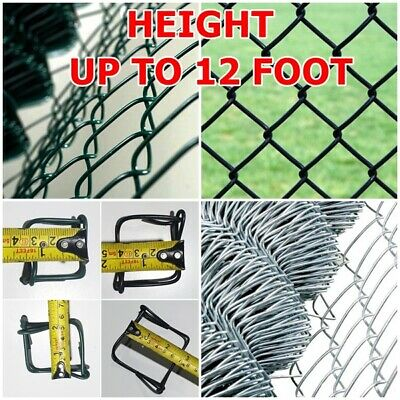 Hole Size 25m x 1.9mm x 50mm x 50mm Galvanised Chain Link Fence 1.25m High