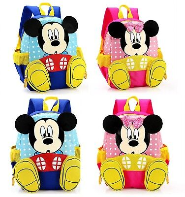 NEW Mickey / Minnie Backpack For Boys / Girls Cute Travel bag kids kindergarden